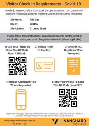 COVID Site Check In Process - Flyer