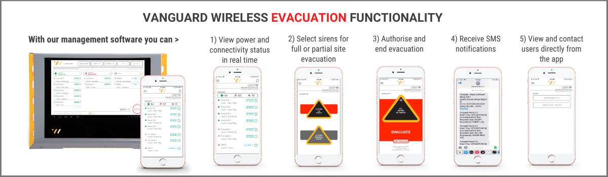 Vanguard Wireless Evacuation Functionality