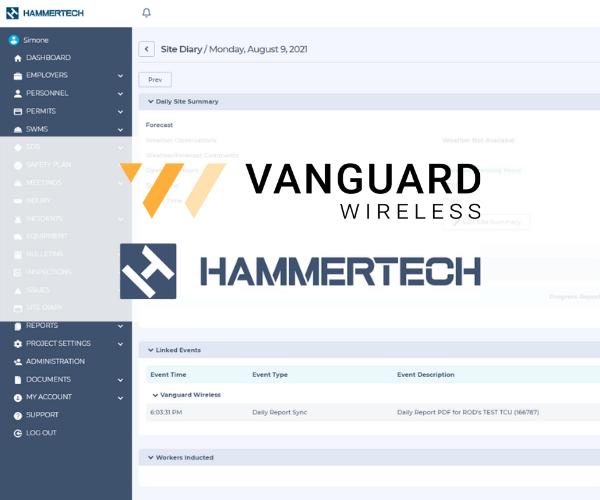 HammerTech + Vanguard Wireless integration