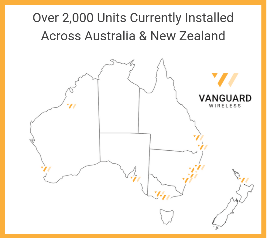 Vanguard Wireless Australia & New Zealand locations